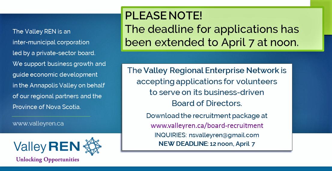 VALLEY REN BOARD RECRUITMENT MARCH 27 2017 new deadline